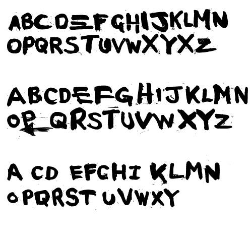 specials font alphabet