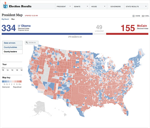 New York Times President Map