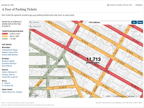 New York Times - A Year of Parking Tickets