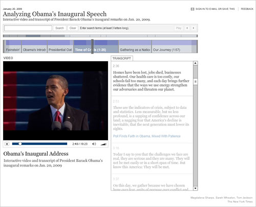 Analyzing Obama's Inaugural Speech