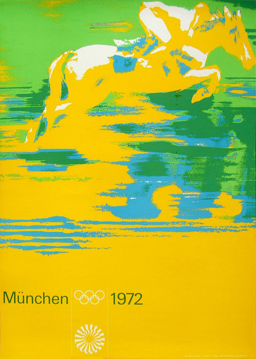 Munich Olympic Horse Poster