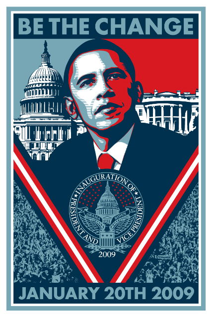 Shepard Fairey Obama Inauguration