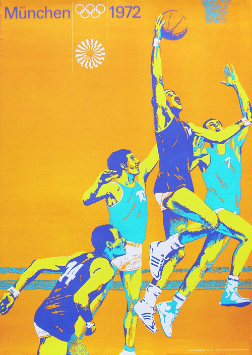 Munchen Olympic Poster Basketball