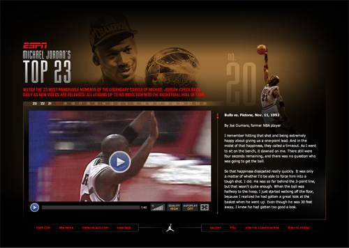 Michael Jordan's Top 23 Moments