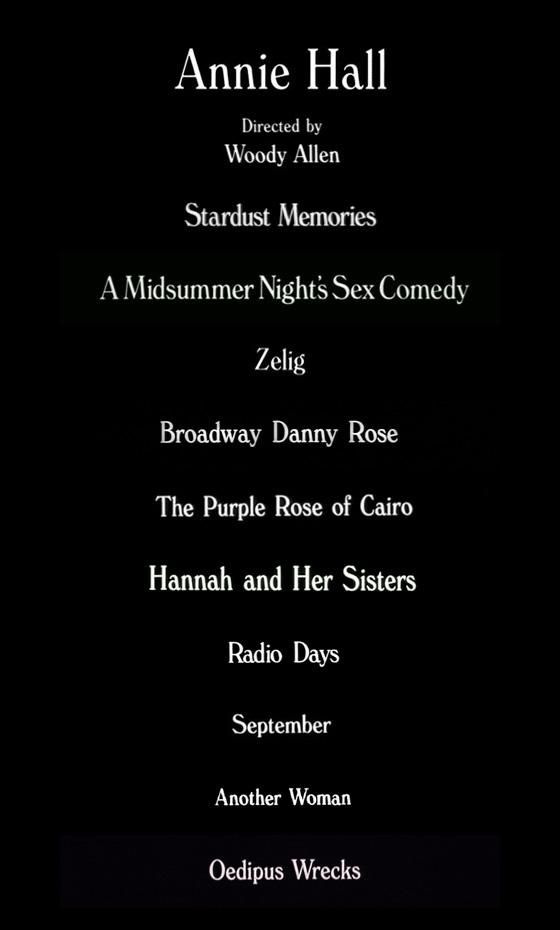 Woody Allen Cinema Typography